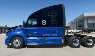 The Everyday Heroes truck will be auctioned to suppport Truckers Against Trafficking.