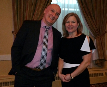 Atlantic Provinces Trucking Association executive director Jean-Marc Picard and Angela Splinter, executive director of Trucking HR Canada.
