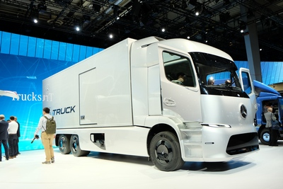 The Mercedes-Benz Urban eTruck at IAA