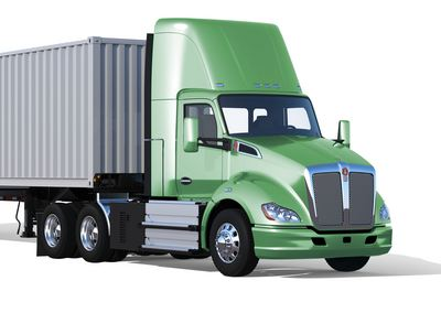 This Kenworth T680 is powered electrically by a fuel cell