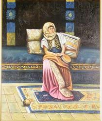 'Tamborine Player' Original Oil On Canvas