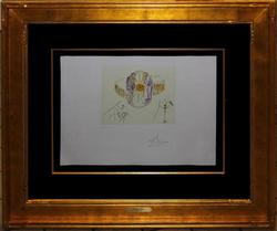 1977  SIGNED DALI PHOTOLITHOLITHOGRAPH, ONES IDENTITY