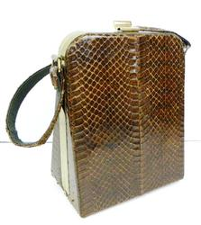 Vintage Snakeskin Box Purse