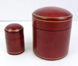 Italian Calfskin Cigarette & Match Box Set