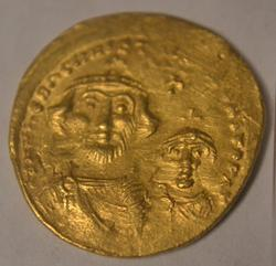 Byzantine Gold Solidus Heraclius Constantinople 610-641  AD