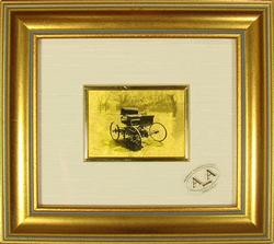 COLLECTIBLE HANDMADE CERTIFIED 23KT GOLD LEAF CAR 1893