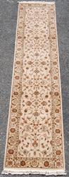 BEAUTIFULLY DONE HANDMADE TABRIZ DESIGN RUNNER W/SILK HIGHLIGHTS