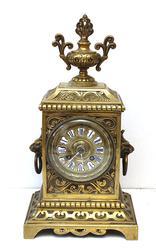 Unique Antique Bronze French Clock, Gorgeous Details!