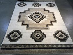 Fabulous Navajo Style Carved Area Rug 6x8