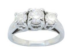 Classic Past Present Future Diamond Ring
