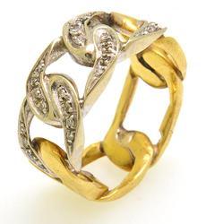 Fancy Design 14kt Gold Diamond Ring