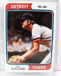 Al Kaline, Tigers 1974 Baseball Card