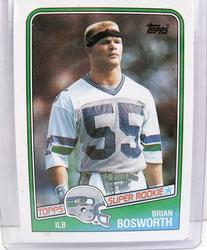 Brian Bosworth, Seahawks Super Rookie Football Card