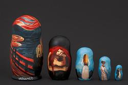 Paintings By Edvard Munch Nesting Doll