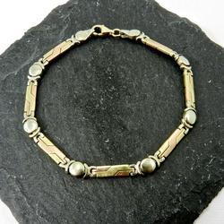 Nice Geometric Tri-Color 14k Bracelet