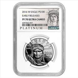 2016-W $100 Platinum Eagle NGC EarlyRelease PF70