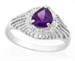 Amethyst Sterling Ring