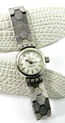 14kt White Gold Omega Watch
