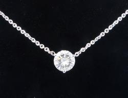 1.35 Carat Diamond Solitaire Necklace
