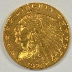 Very Pretty BU 1926 US $2.50 Indian Gold Piece