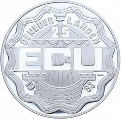 Netherlands 25 Ecu 1993