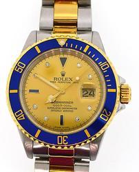 Rolex Serti Dial Submariner in 18K/SS
