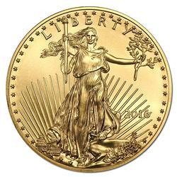 2016 $50 American Gold Eagle, 1 Oz BU
