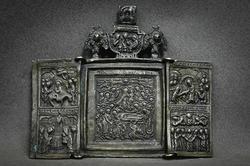 Magnificent Triptych Assumption of the Virgin XIX Cent