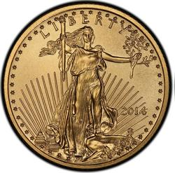 2014 BU 1/4oz $10 Gold American Eagle