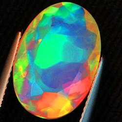 Very rare 4.95ct Maple Leaf Pattern Opal