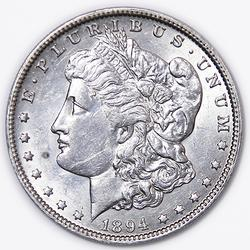 1894 O Morgan Dollar Near Unc