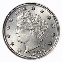 Choice Gem BU 1904 V Nickel