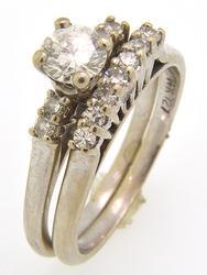 Ladies .50 CTW White Gold Diamond Wedding Set