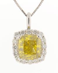 STUNNING 2CT PLUS YELLOW DIAMOND PENDANT