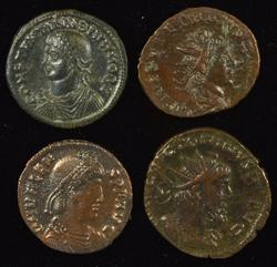 Lot of 4 Diff. Great High Grade Roman Bronze Ancients