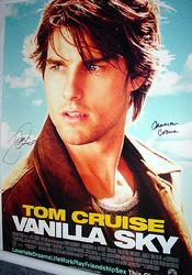TOM CRUISE & CAMERON CROWE Signed Poster & PROOF    AFT