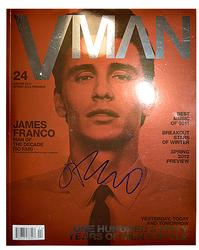 James Franco Autographed Signed Vman Magazine AFTAL UAC