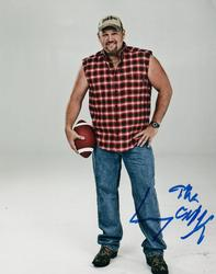 Larry The Cable Guy Football Autographed Signed Photo A