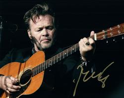 John Cougar Mellencamp Live Concert Playing Guitar Sign