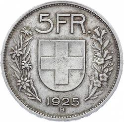 Switzerland 5 Francs 1925