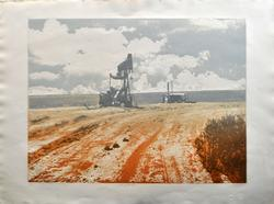 Limited Edition color Lithograph 'Oil Field'