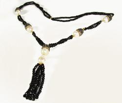 ENCHANTING & ELEGANT LONG BEADED GEM TASSEL NECKLACE