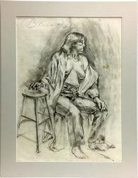 Adolf Benca Fine Orginal Collectible Pencil Drawing
