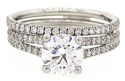 IMPRESSIVE QUALITY CERTIFIED 1.53 CTW WEDDING SET
