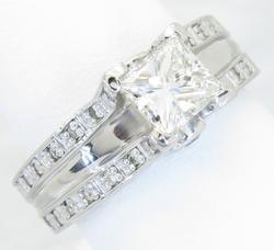 Custom Platinum 1.75CTW Diamond Ring