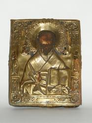 Lovely Russian Orthodox Icon Of Saint Nicholas XIX Cent