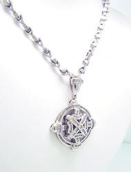 1cttw Long Diamond Necklace, 117 grams!