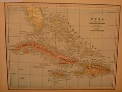 VERY RARE AND HARD TO FIND MAP OF CUBA