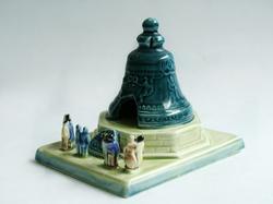 Interesting Russian Faience Tsar Bell Figurine