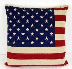 American flag Andrew stars and stripes pillow